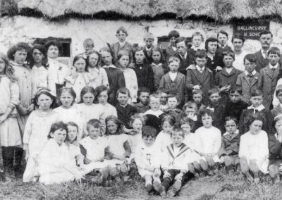 Ballincurry School, cWW1 Some of the girls in pinafore & dresses