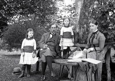 Edith, Ethel & Georgina with father Luke Dillon