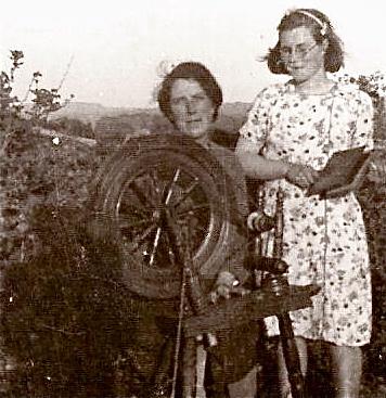 Margaret and daughter Peggy Kerrigan Drumcliff Co. Sligo 1945
